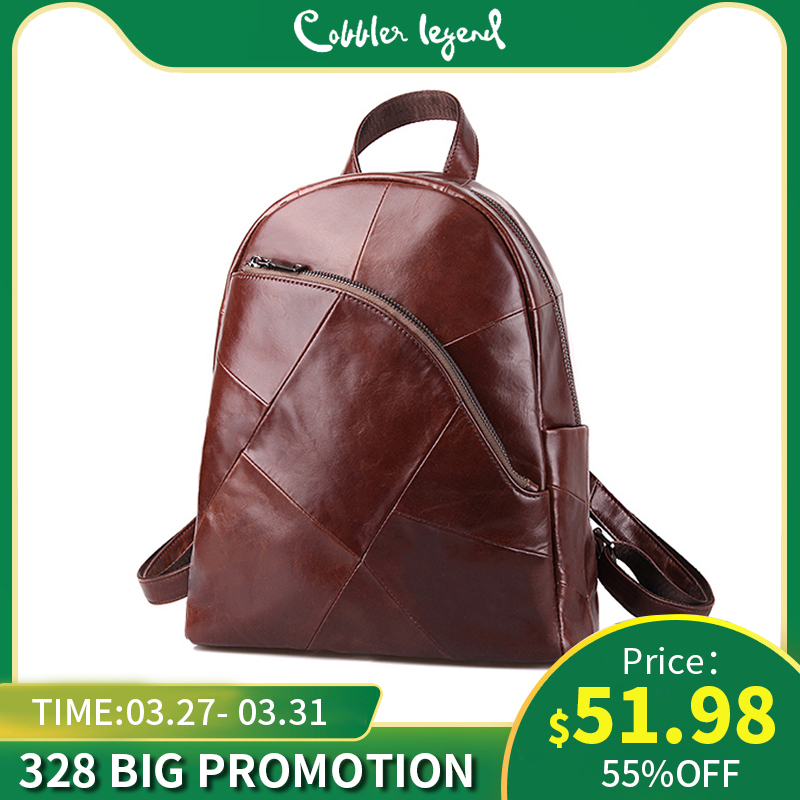 Cobbler Legend Backpack Women 2019 Laptop Bagpack Vintage Classic Genuine Leather Women's Backpack Ladies Bag Mochila Feminina