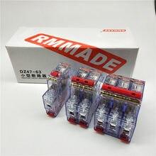 AC220V-400V DZ47-63 6A 10A 16A 20A 25A 32A 40A 50A 63A Мини автомат защити цепи вырез миниатюрная прозрачная Бытовой Воздушный переключатель
