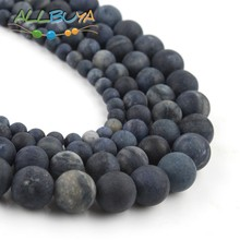 Round Loose Stone Beads for Jewelry Making DIY Bracelet Natural Matte Dull Polished Blue Jaspers Beads 4/6/8/10/12mm  15 Perles 4 6 8 10 12mm matte blue sandstone round beads natural stone beads for jewelry making diy bracelet 15 perles minerals beads