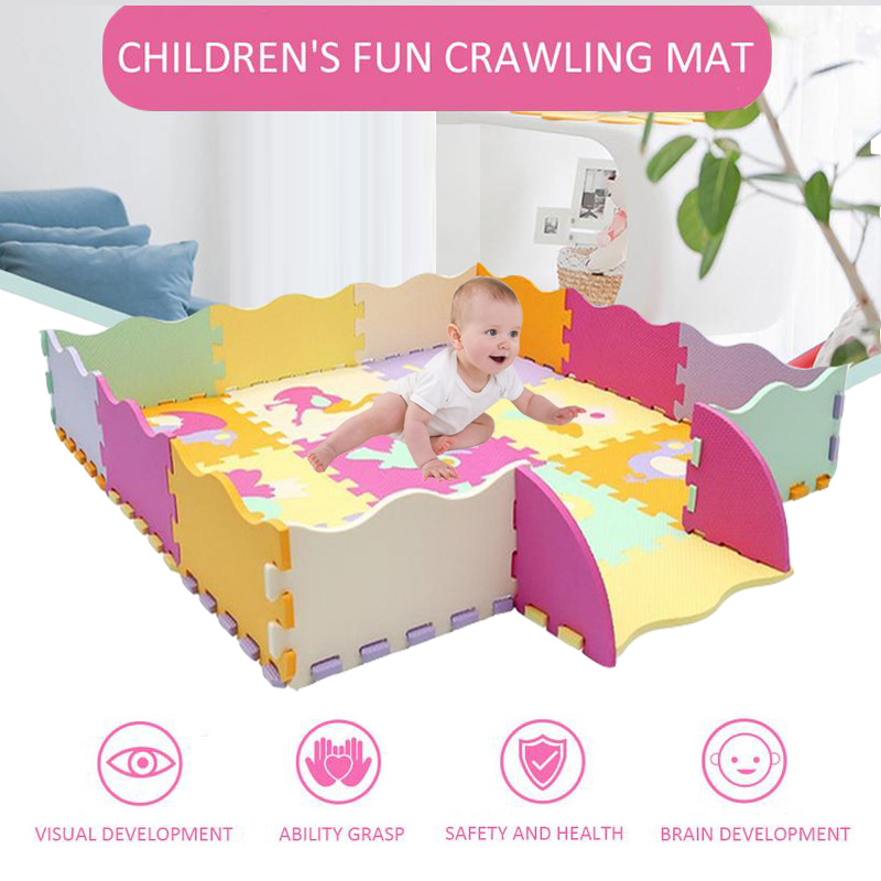 25Pcs Kids Toys EVA Children s mat Foam Carpets Soft Floor Mat Puzzle Baby Play Mat 25Pcs Kids Toys EVA Children's mat Foam Carpets Soft Floor Mat Puzzle Baby Play Mat Floor Developing Crawling Rugs With Fence