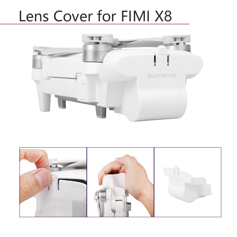 White Dustproof Protective Case Protector Lens Protection Cover Lens Cap For Xiaomi FIMI X8 SE Drone Quadcopter Accessories