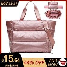 Women Gym Sports Bag Waterproof Swimming Yoga Mat Blosa Pink Weekend Travel Duffle Bag for Women Sport Fitness Shoulder Handbag