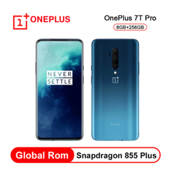 Original Global Rom OnePlus 7T Pro Snapdragon 855 Plus 6.67'' Fluid AMOLED 90Hz Refresh Rate Screen 48MP Triple Cam 4085mAh