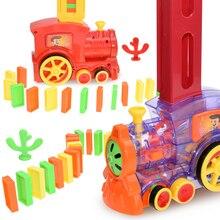 Set Domino-Brick Game-Toys Blocks Gift for Boys Girls Car-Set Laying Sound-Light Kids