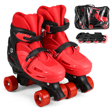 Skating-Shoes Roller-Skates Inline-Wheels Children Converts Girl with 8pcs From-Double-Row
