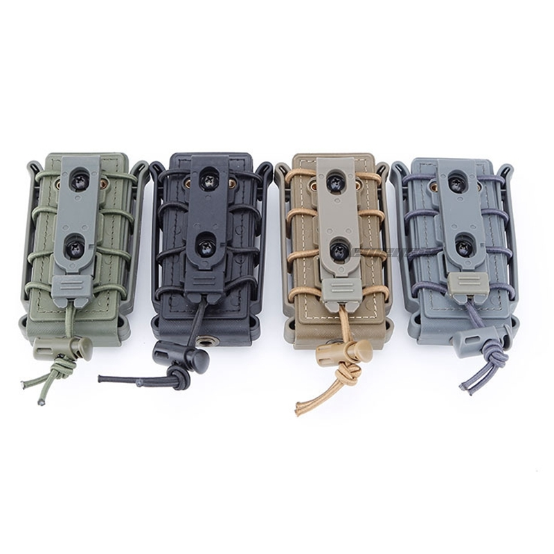 9mm Molle Hunting Pistol Magazine Pouch  Tactical Soft Shell Mag Pouch with Belt Clip Airsoft Paintball Shooting Ammo Pouches