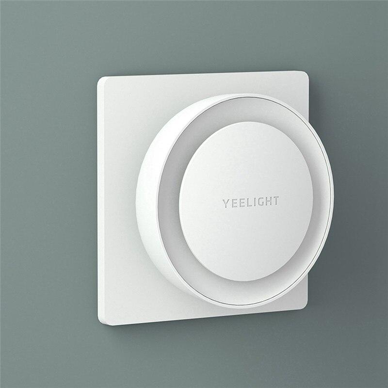 Xiaomi Mijia Yeelight Plug-in LED Night Light Round Wall Lamp With Light Sensor – EU Plug – White (Warm White White EU)