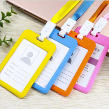 Credit-Card-Holder Wallet Badge-Bag Student Bank with Rope Bus Id-Name for Business-Card-Case