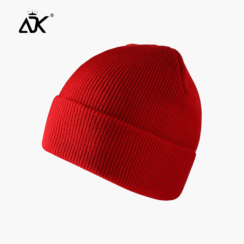 Winter Hats Short Cuffed Cap Warm All Match Bonnet For Woman Short Knitted Ribbed Beanie Casual Breathable Stretchy Cap 4