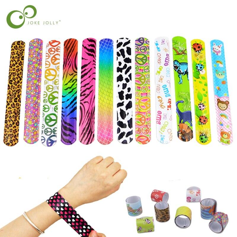 20 pièces/10 pièces enfants nouveauté claque Bracelets envelopper bracelet anneau bande fête jouets anniversaire vacances fête cadeaux GYH