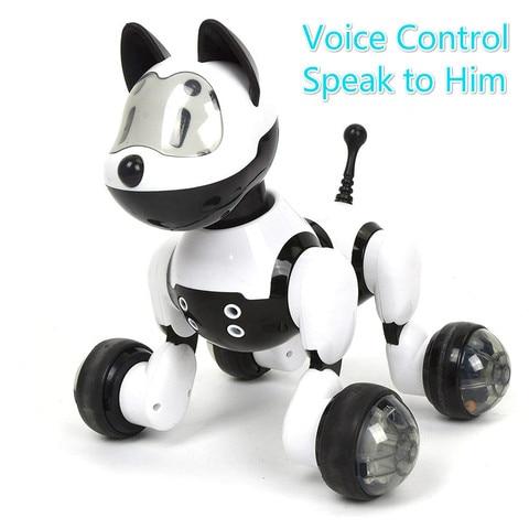 youdi controle de voz cao e gato robo inteligente eletronico animal estimacao programa interativo danca