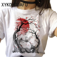 Totoro T Shirt Women Cartoon Summer Japanese Kawaii Tshirt Ulzzang Harajuku Aesthetic Clothes Funny
