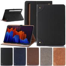 Кожаный защитный чехол для планшета samsung galaxy tab s7 11