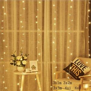 Image 1 - 2/3/6M Vorhang LED String Licht Fee Eiszapfen LED Weihnachten Garland Hochzeit Terrasse Fenster Outdoor string Licht Dekoration