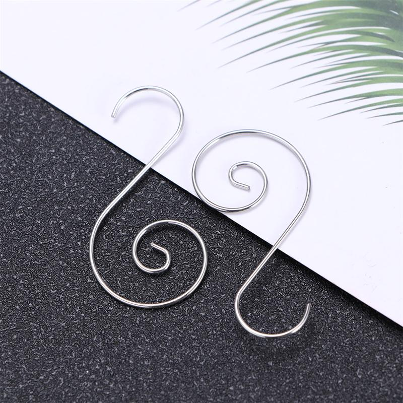 100pcs Christmas Tree Hanging S Shape Ornament Hooks Stainless Steel Wall Hangers Accessory For Xmas Gift Hanging Hook A35