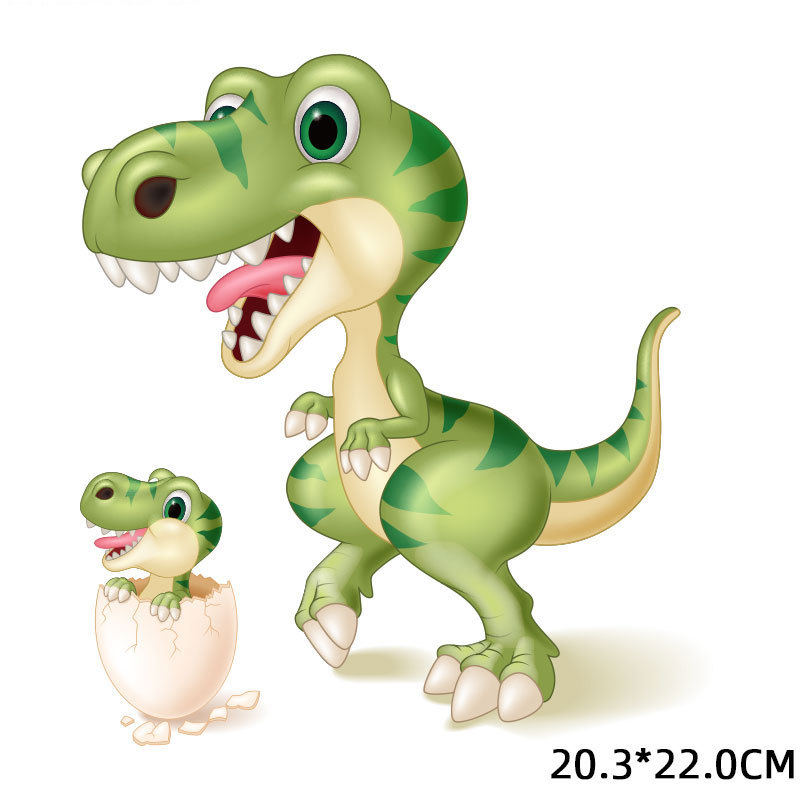 Iron-on Dinosaur T Shirt Hot Print Girls And Boys Handmade Clothing Hot Print High Bounce Eco-Friendly Animals Stickers