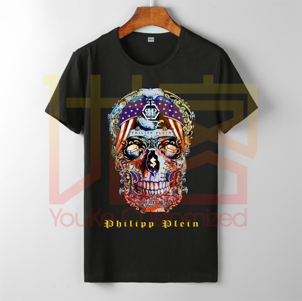 Retro Phillip T-shirt Plein Cotton Graphic Shirt Unoficial T-Shirt Hip Hop Novelty Men Brand Clothing T-Shirt