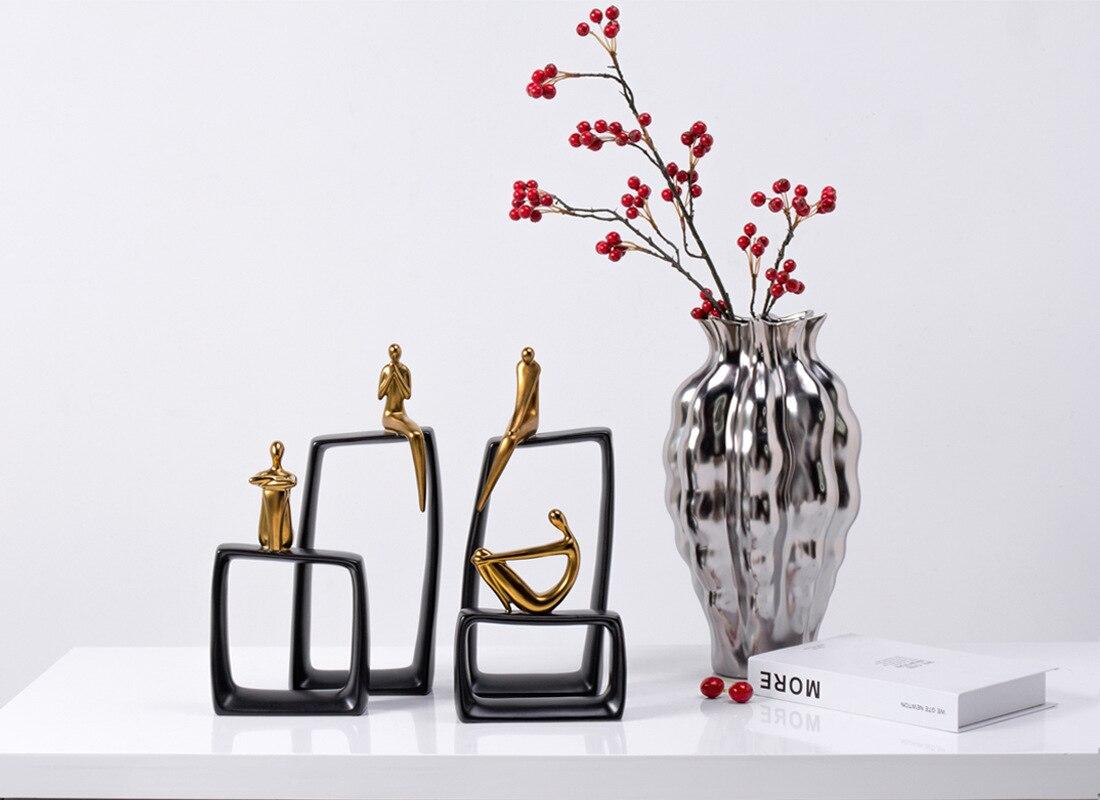 Imagem abstrata escultura decoração de casa acessórios