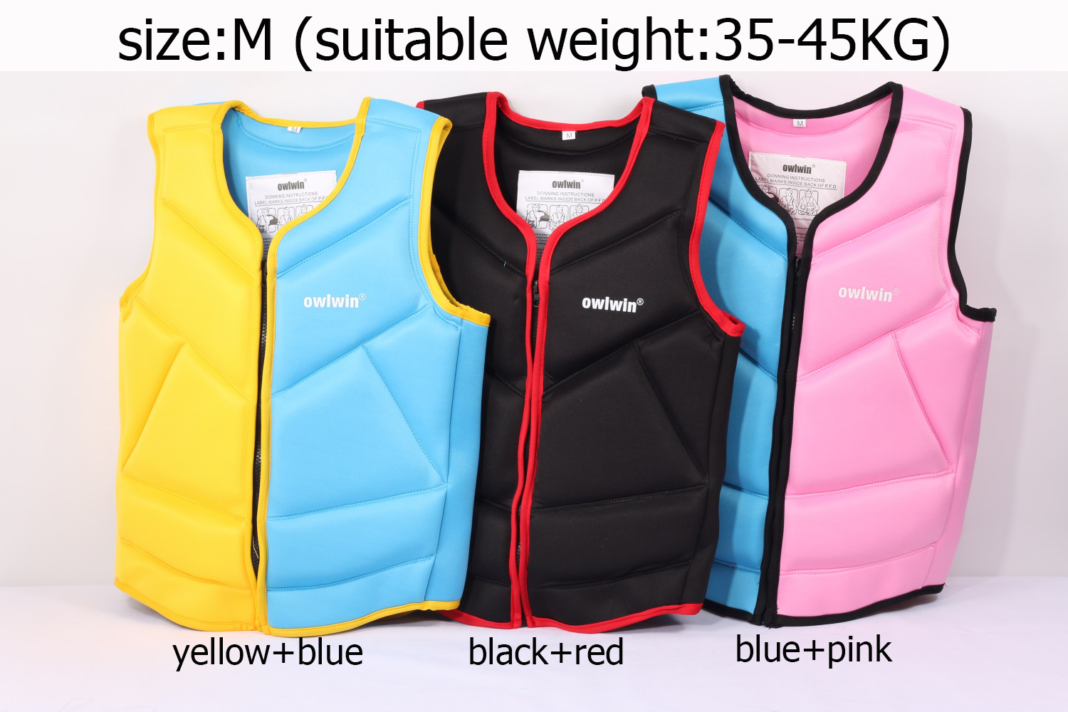 owlwin life jacket the fishing vest water jacket sports adult children life vest clothes swim skating ski rescue boats drifting