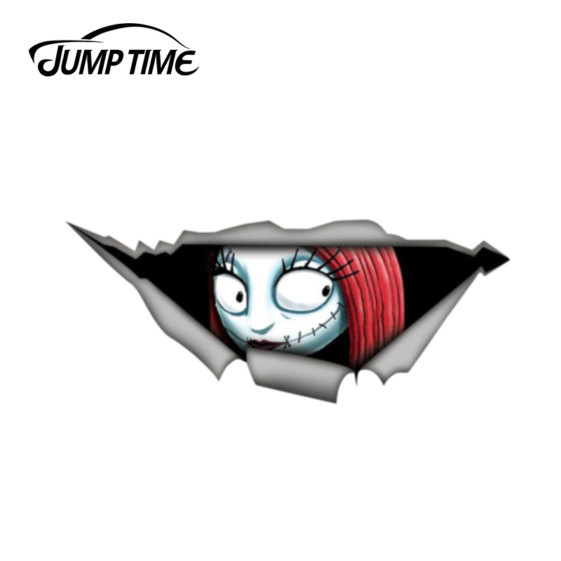 Jump Time 13cm X 4.8cm Nightmare Before Christmas Sticker 3D Pet Graphic Vinyl Decal Car Window Laptop Bumper Car Sticker