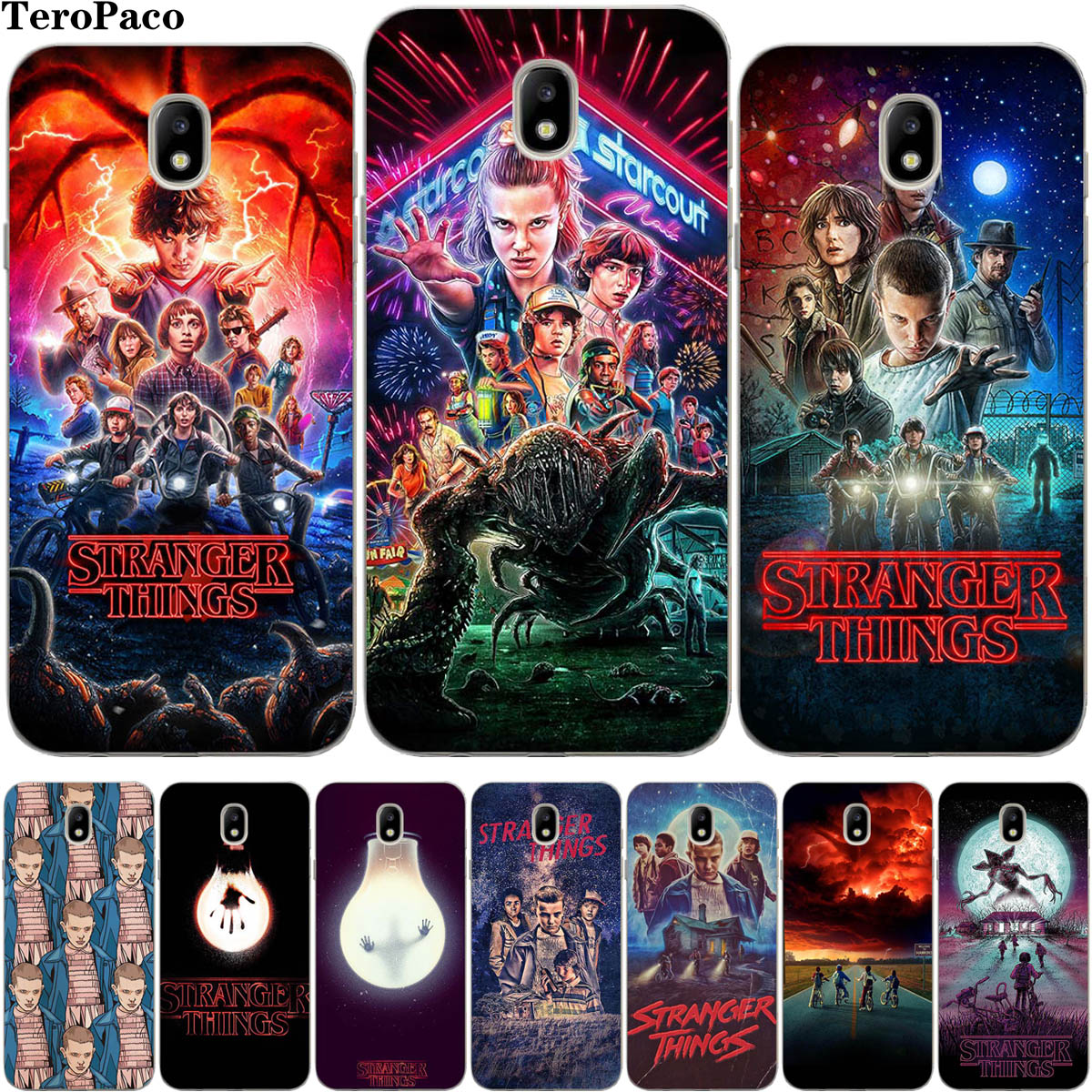 Stranger Things Phone Case For Samsung Galaxy J2 Pro J3 J4 J5 J6 J7 J8 2016 2017 EU Plus 2018 Prime Cover Etui(China)