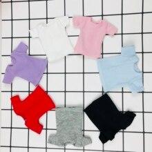 1 шт. Blyth Кукла одежда белый/розовый/красный/серый/черный короткая футболка Милая Базовая рубашка для Blyth, Momoko, obistu, licca, FR 1/6 кукла