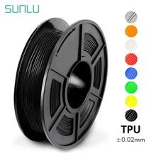Filamento flexível da impressão de 1.75mm tpu 3d com precisão dimensional da cor completa +/-0.02mm 0.5kg com carretel 100% nenhuma bolha