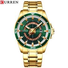 CURREN Watches Men Stainless Steel Band Quartz Wristwatch Military Waterproof Male Fashion Casual Sporty Watch relogio masculino все цены