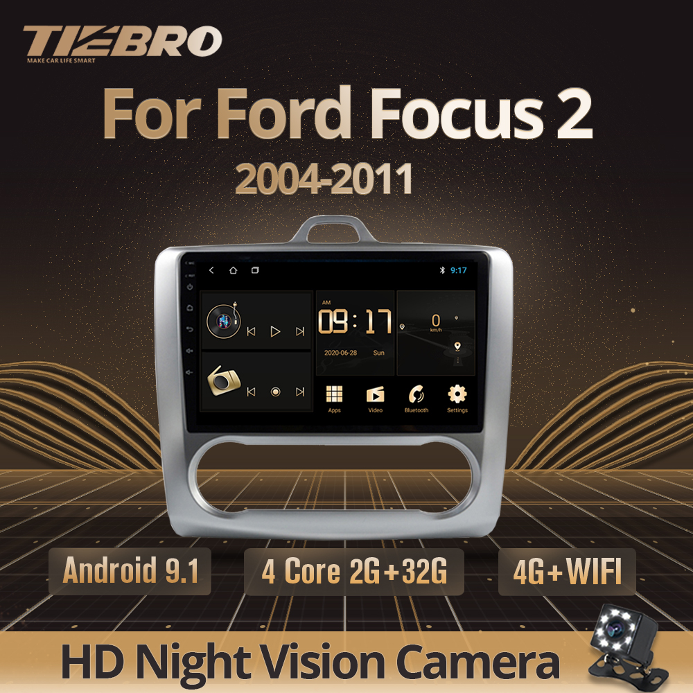 TIEBRO 2DIN Android 9.0 Car Radio For ford focus2 Mk2 2005-2011 Car Radio Multimedia Video Player Navigation GPS 2din DVD Player image