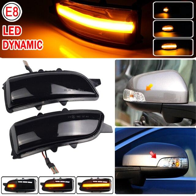 2pcs Dynamic Blinker For Volvo V40 2013 2016 manual folding inverted mirror LED Turn Signal Mirror Light Flasher Arrow