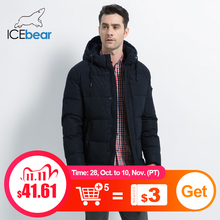 Icebear 2019 新冬メンズジャケット高品質男性のコート厚く暖かい男性の綿の服ブランド男アパレルMWD17933I