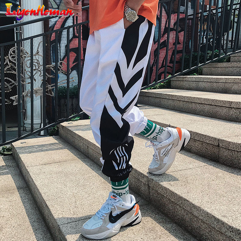 Men Loose Casual Harem Pants Ankle Length Trousers 2019 Men Fitness Sweatpants M-3XL Men's Streetwear Hip Hop Joggers Pants