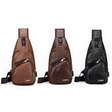 1PC Chest Bag Casual Functional Men Waist Money Phone Chest Belt Pack 2021 Usb Bag Outdoor Charge Sports Bag Belt J0U5