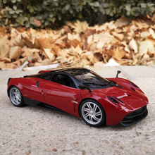цена на Welly 1:24 PAGANI HUAYRA red supercar alloy car model die-cast toy car collection gift