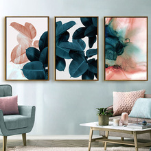 Colorful Leaves Wall Pictures for Living Room Home Decoration Nordic Plants Poster Wall Art Canvas Painting Posters and Prints green leaves wall art canvas painting green style plant nordic posters and prints wall art poster pictures for living room 5 19