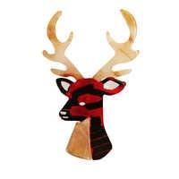 Begrenzte Weihnachten Deer Antlers Kopf Elch Noel Nightmare Vor Weihnachten Pin Brosche Mann Frauen Acryl Zubehör mit geschenk box