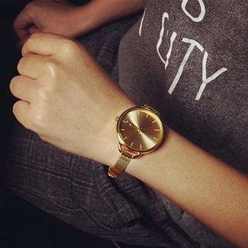 Women's Fashion wristwatch Ultra-thin Slim Mesh Strap Clock Quartz Analog Wrist Bracelet Watch reloj mujer Female watch sailor moon analog wrist watch for girl women clock rose gold mesh strap reloj female bracelet wristwatch gift horloge dames