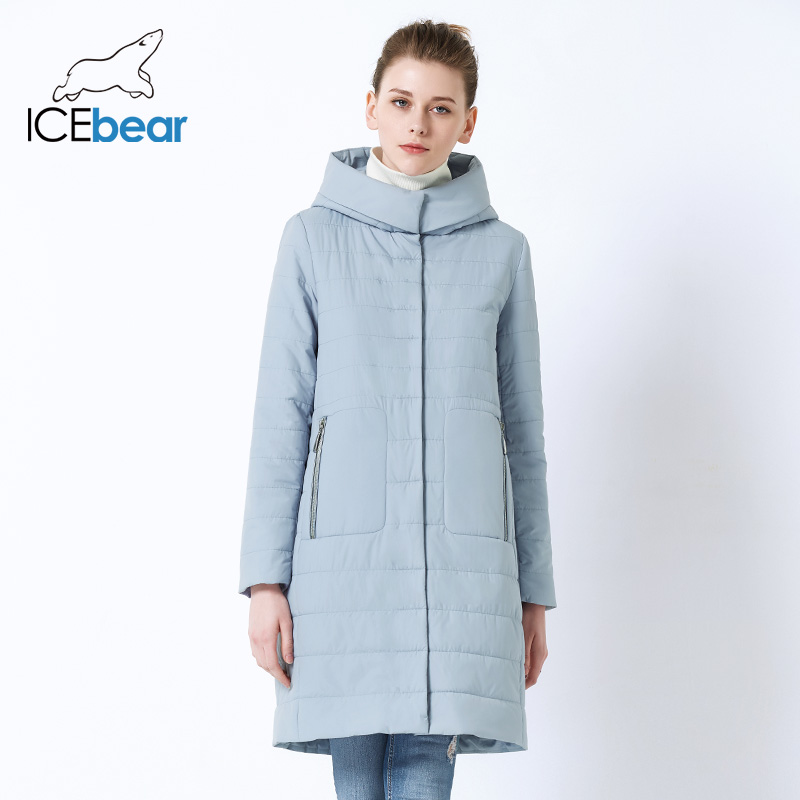 ICEbear 2019 New Ladies Fall Coat  Women Hooded Cotton  Warm Women Jacket High Quality Brand Female Hooded GWC19038I