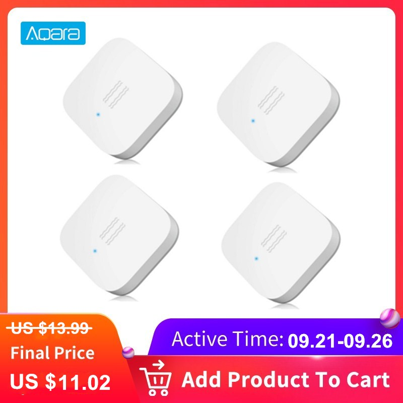 Aqara Smart Vibration Sensor Zigbee Motion Shock Sensor Detection Alarm Monitor Built In Gyro For Home Safety