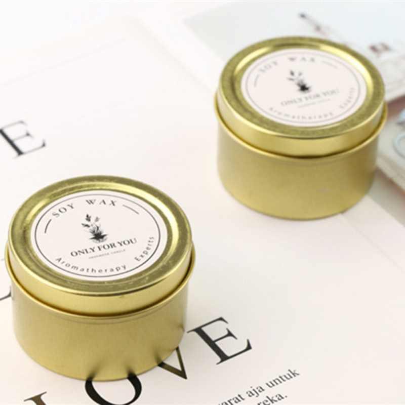 Romantyczna świeca zapachowa filiżanka blacha okrągła filiżanka prezent zapakowana zapachowa niezbędna świeczka olejowa na prezent urodzinowy podróż walentynkowa