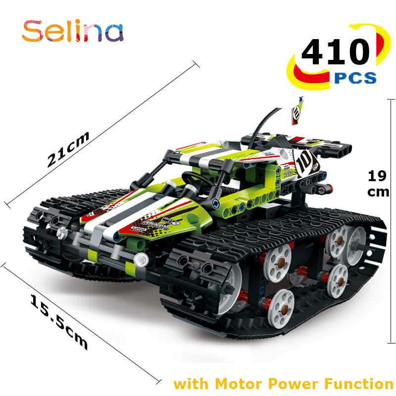 Technic RC GEVOLGD RACER auto Elektrische Motor Power Functie Bouwstenen Bricks interactieve Off-road Track sport Technic Speelgoed