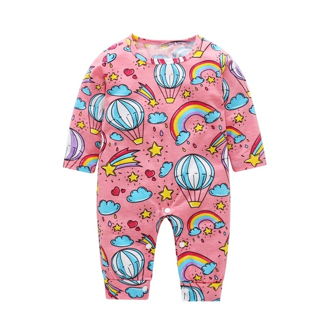 2018 New Newborn Baby Boys Girls Romper Animal Printed Long Sleeve Winter Cotton Romper Kid Jumpsuit Playsuit Outfits Clothing 3