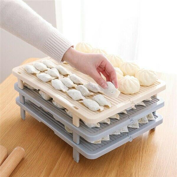 Hot New Kitchen Rack Dish Holder Portable Foldable Dumpling Tray Drying Kitchen Storage Tableware