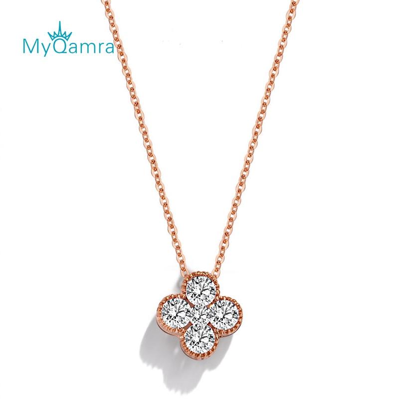 18k золото счастливый четыре листа ожерелья в форме клевера для женщин мужчин Девочек Унисекс модные украшения для вечеринки день рождения П