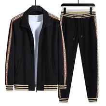 New Men's Sets Fashion Long Sleeve Casual Mens Tracksuit Men Sports Suit Printing Plus Size Sweatsuit Winter Street Clothing