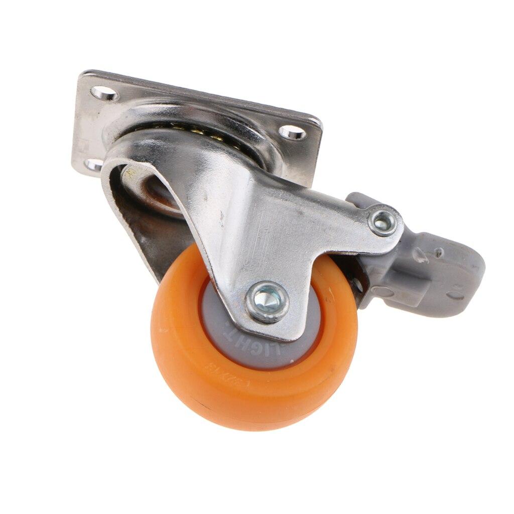 O rodízio resistente do giro de 1.25 polegadas roda a placa superior de 720 graus com capacidade do freio 17kg-1