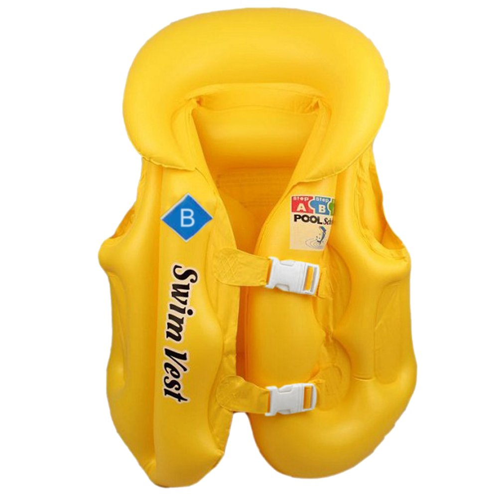Kids Inflatable Pool Float Life Jacket Vest Baby Summer Beach Swimming Water Sports Drifting Safety Fashion Vests For Children