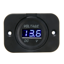 1pcs DC 12V-24V Blue LED Digital Voltmeter Panel Car Motorcycle Voltage Meter Display Electric Voltage Meter Volt Tester