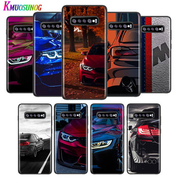 Blue Red Car for Bmw for Samsung Galaxy Note 20 Ultra 10 9 8 Pro S10E S10 5G S9 S8 S7 Plus Bright Black Phone Case Capa image