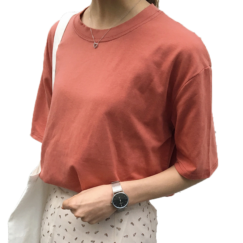 11 Colors Women Basic T-shirt 2020 New Summer Round Neck Short Sleeve Loose T Shirt Female Casual Tees Woman Harajuku Tops
